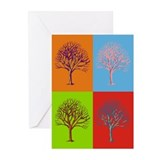Warhol Print Tree Greeting Cards (Pk of 10)