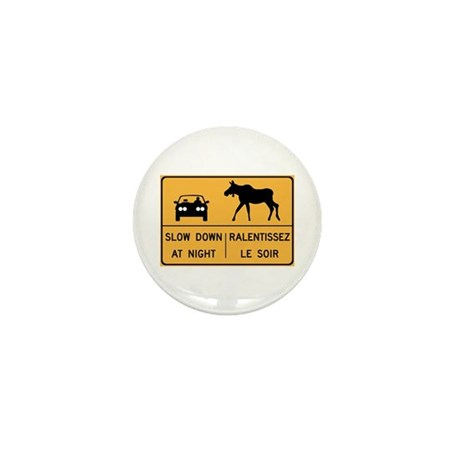 Slow Down At Night, Canada Mini Button (100 pack)