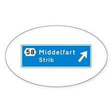 Middelfart, Denmark Oval Sticker (50 pk)