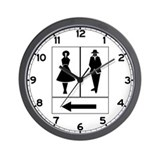 Public Toilet Women/Men, Sweden Wall Clock
