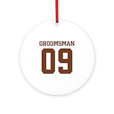 Brown Groomsman 09 Ornament (Round)