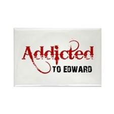 Addicted to Edward Rectangle Magnet