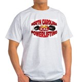 NORTH CAROLINA Powerlifting! Ash Grey T-Shirt