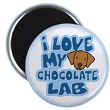 I Love my Chocolate Lab Magnet