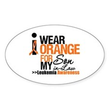 Leukemia (Son-In-Law) Oval Sticker (50 pk)