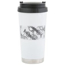 Guitars Black & White Ceramic Travel Mug