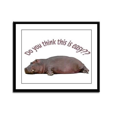 Hippo Framed Panel Print