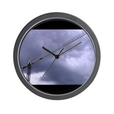 Unique Construction cranes Wall Clock