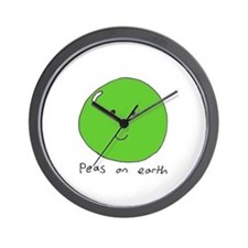 Cute Peas earth Wall Clock