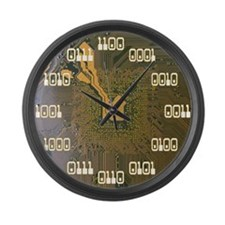 Binary Clock v2.0 Large Wall Clock