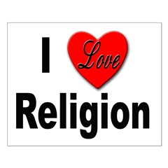I Love Religion Small Poster