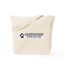 Compassion Over Killing Logo Tote Bag