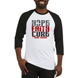 HOPE FAITH CURE Heart Disease Baseball Jersey