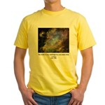 Carl Sagan J Yellow T-Shirt