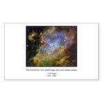 Carl Sagan J Rectangle Sticker 50 pk)