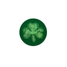 Retro St Patricks Day Shamrock Mini Button
