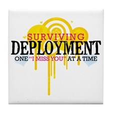 Deployment (I Miss You) Tile Coaster