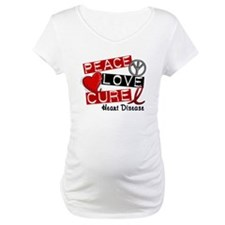 PEACE LOVE CURE Heart Disease Shirt