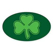 Shamrock Oval Bumper Stickers