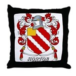 Horton Coat of Arms Throw Pillow