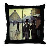 Caillebotte Paris Street Throw Pillow