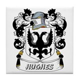 Hughes Coat of Arms Tile Coaster