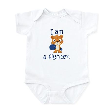 Teddy Bear Fighter Infant Bodysuit