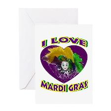 Love Mardi Gras Greeting Card