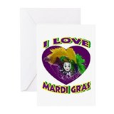 Love Mardi Gras Greeting Cards (Pk of 10)