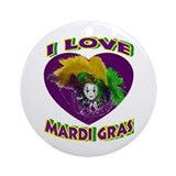 Love Mardi Gras Ornament (Round)