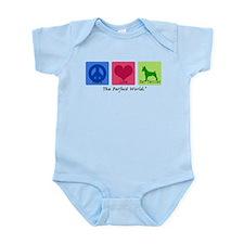 Peace Love Rat Terrier Infant Bodysuit
