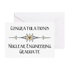 Nuclear Engineering Blank Graduation Greeting Card