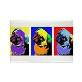 Pug Monroe Rectangle Magnet (10 pack)