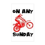 ON ANY SUNDAY Decal