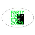 Apophis 2029 Oval Sticker (10 pk)