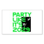 Apophis 2029 Rectangle Sticker 50 pk)
