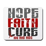 HOPE FAITH CURE AIDS / HIV Mousepad