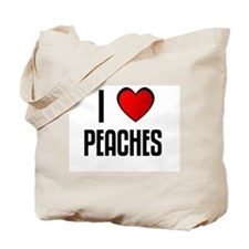 I LOVE PEACHES Tote Bag