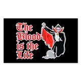 The Blood is the Life Rectangle Sticker 50 pk)