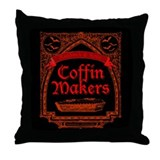 Coffin Makers Throw Pillow