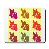 German Shepherd Pop Art Mousepad