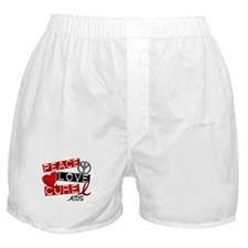 PEACE LOVE CURE AIDS (L1) Boxer Shorts