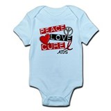 PEACE LOVE CURE AIDS (L1) Onesie