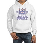Queen Of The Court Volleyball Hooded Sweatshirt