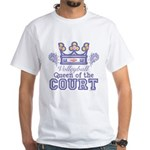 Queen Of The Court Volleyball White T-Shirt