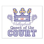 Queen Of The Court Volleyball Small Poster