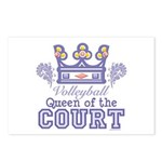 Queen Of The Court Volleyball Postcards (Package o