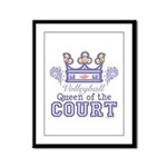 Queen Of The Court Volleyball Framed Panel Print