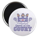 Queen Of The Court Volleyball Magnet