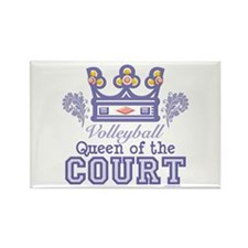 Queen Of The Court Volleyball Rectangle Magnet